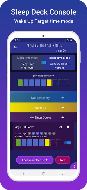 Sleep Deck Console - Wake Up Mode
